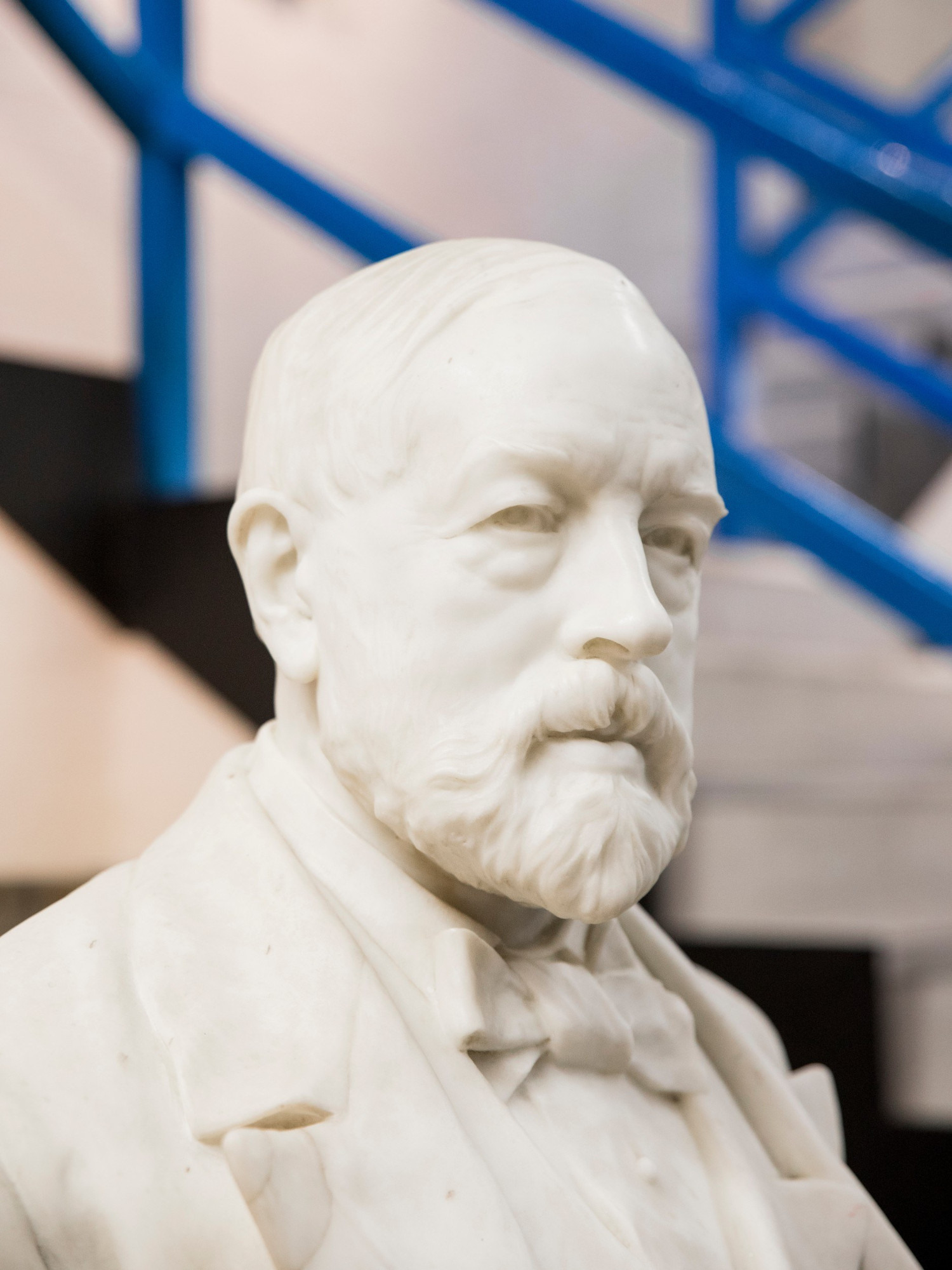 A bust of Sir Henry Tate in the Tate & Lyle factory