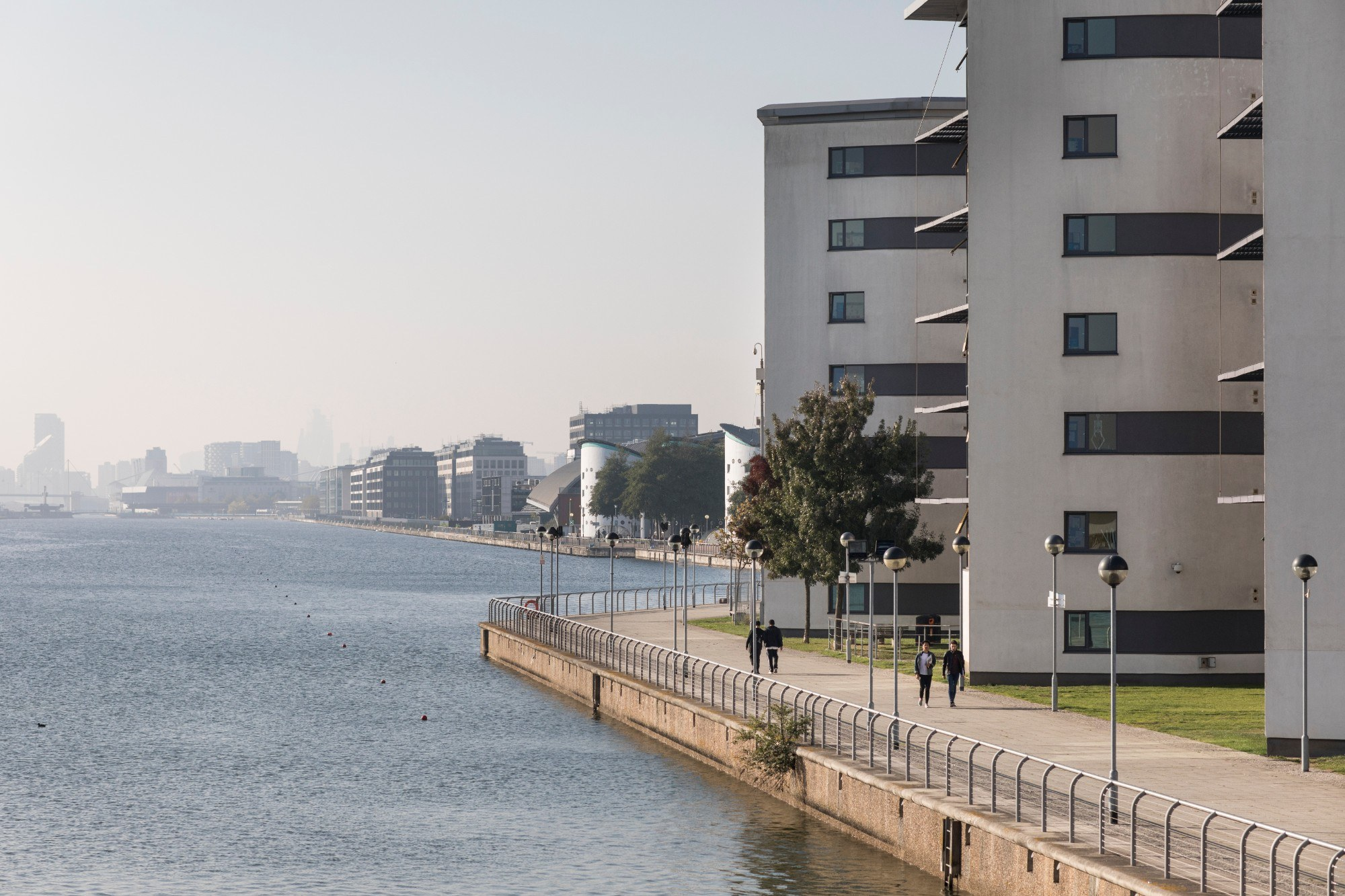 An image of University of East London from Redgrave Bridge overlooking the water