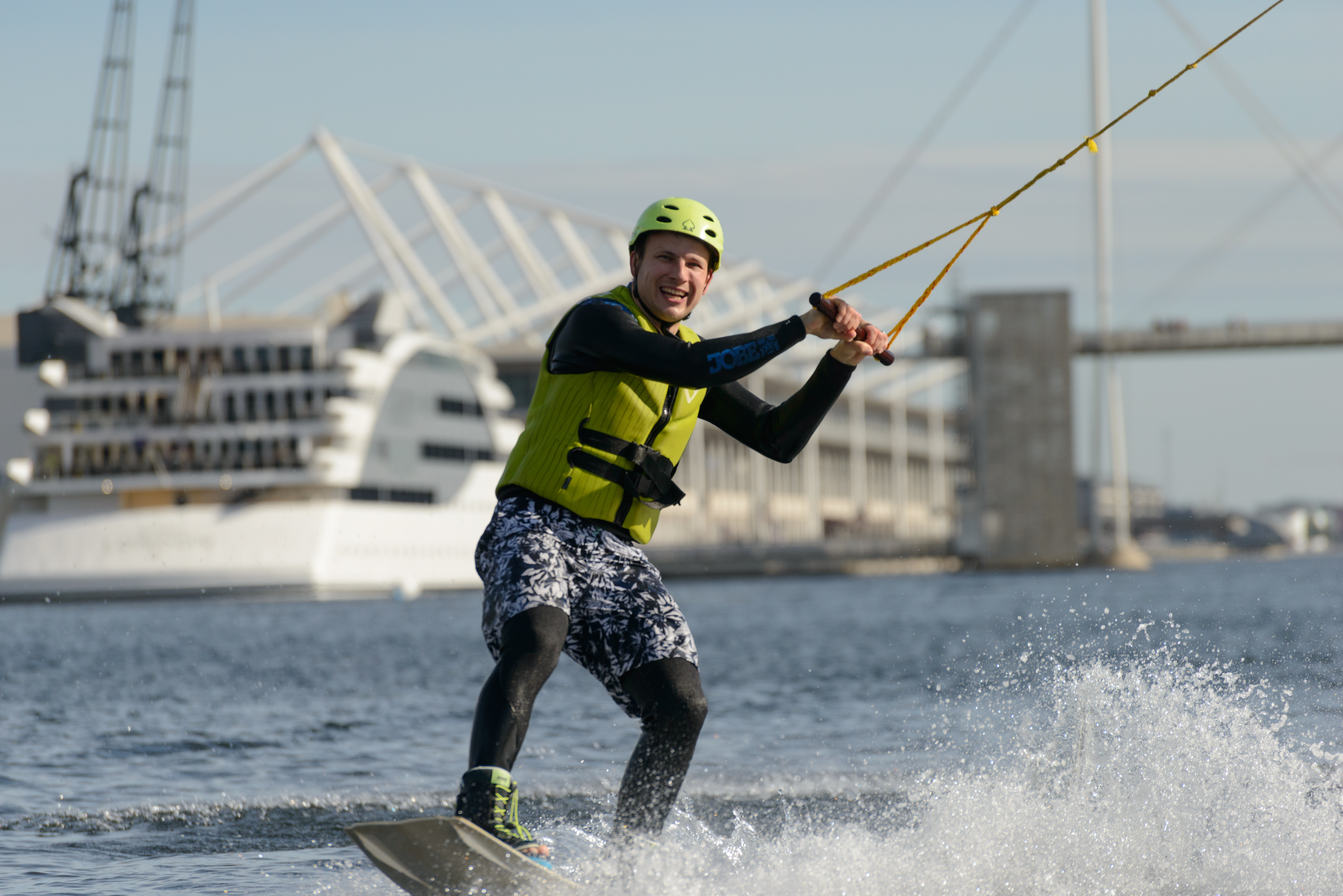 Wakeboarding in Royal Docks