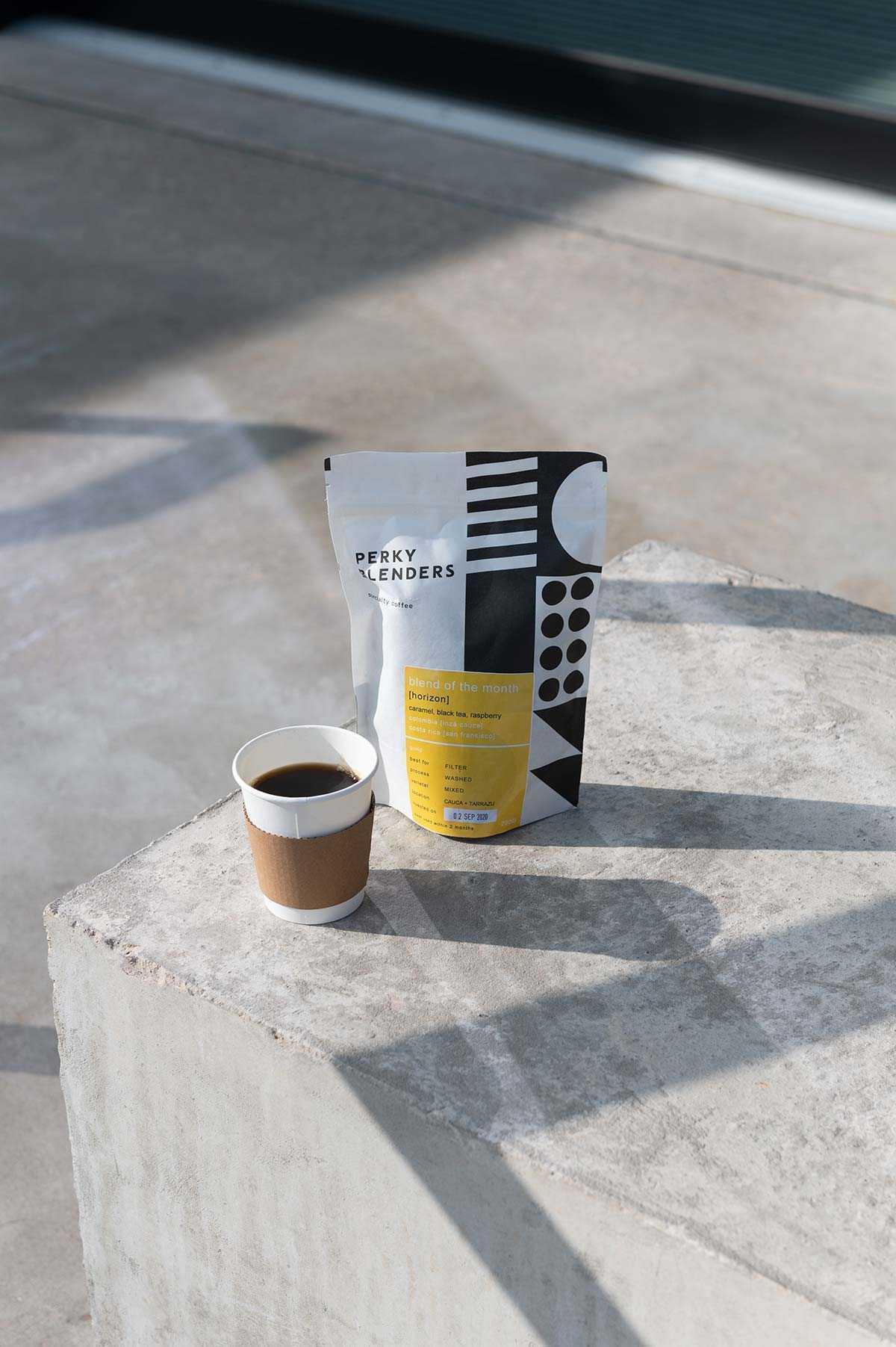 Perky blenders black coffee