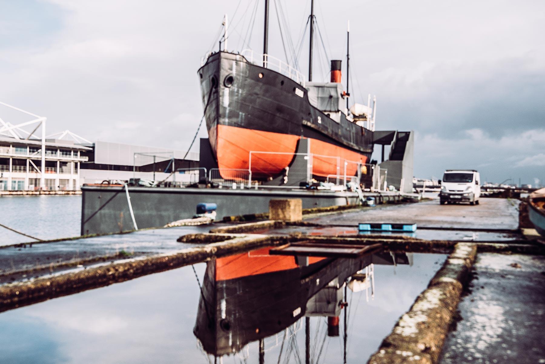 SS Robin in the Royal Docks