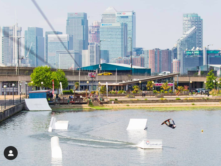 Wakeboarding in the Royal Docks