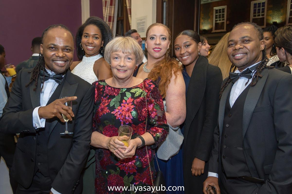 Marian Phillips and colleagues at a party