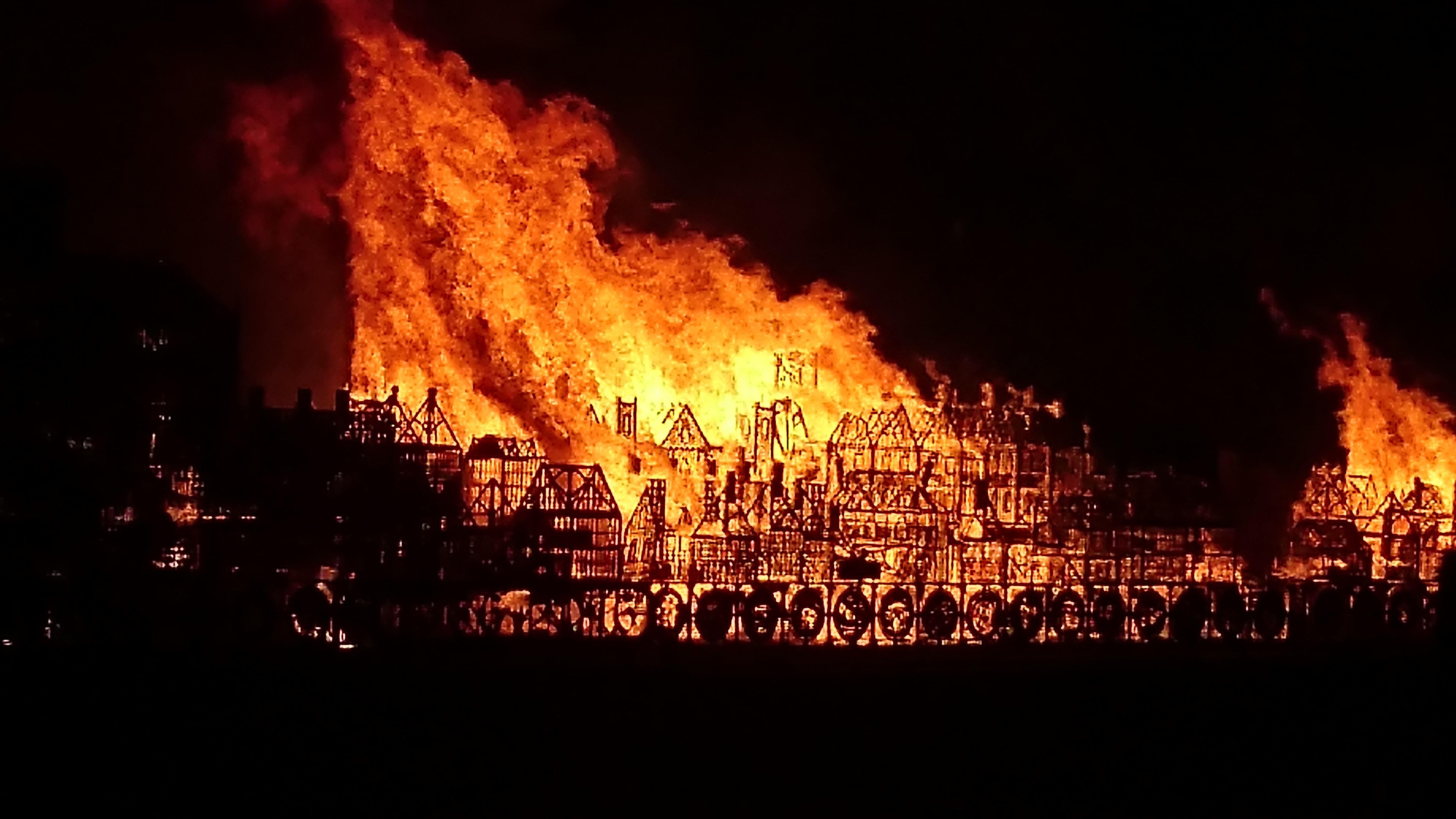 A photograph of a fire