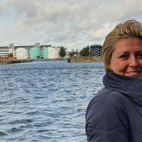 Toni Cox at the Royal Docks