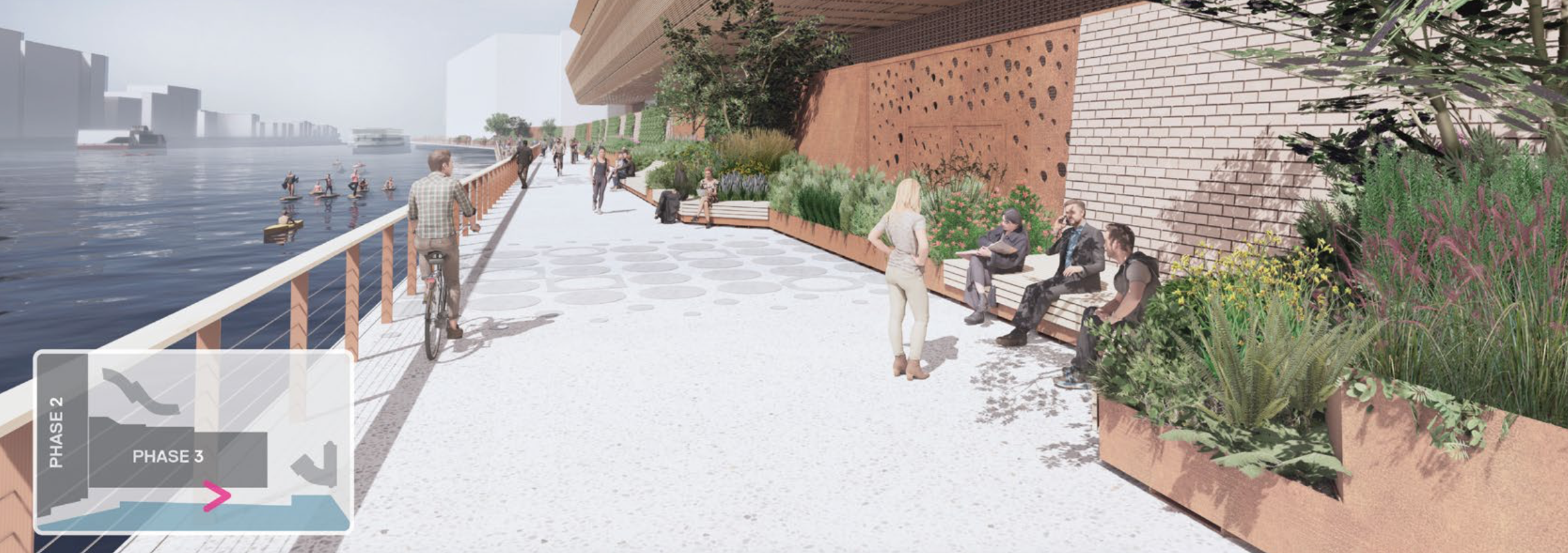 CGI of proposed walkway near ExCeL