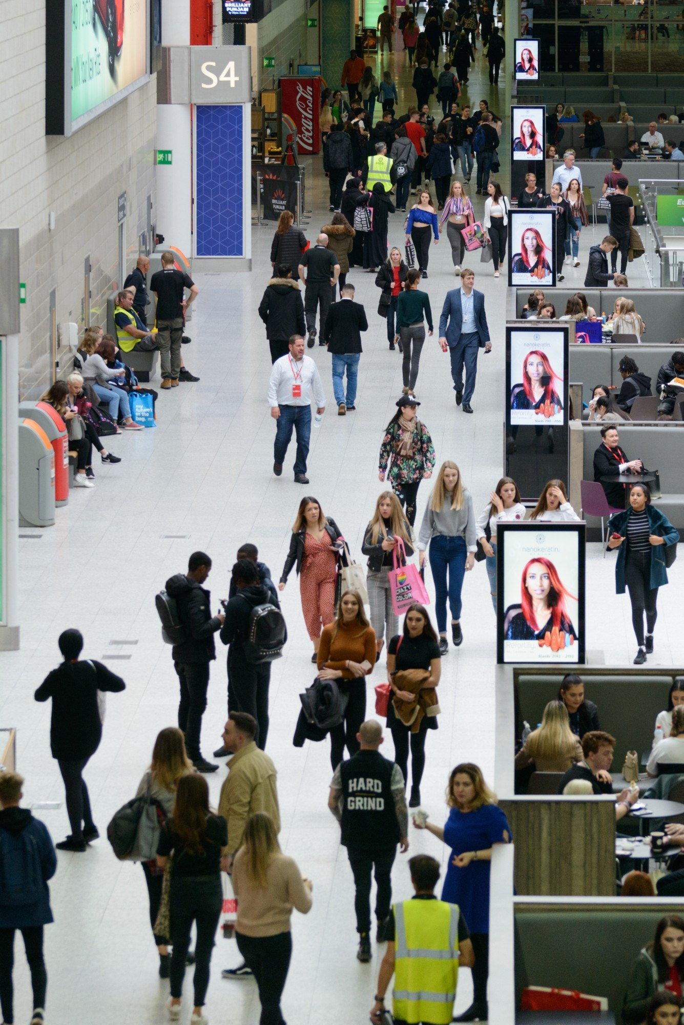 Crowd of people at ExCeL London