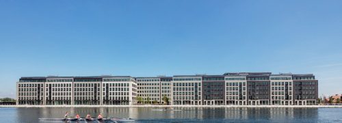 Royal Albert Docks site from the water