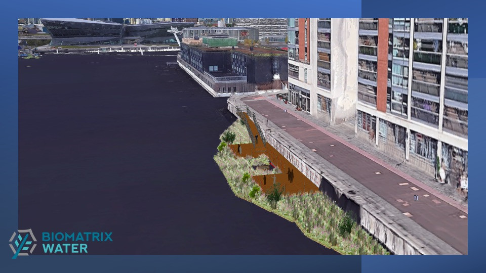 Concept art of floating gardens at the royal docks