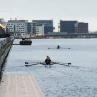 UEL Rowing team at Royal Albert Docks