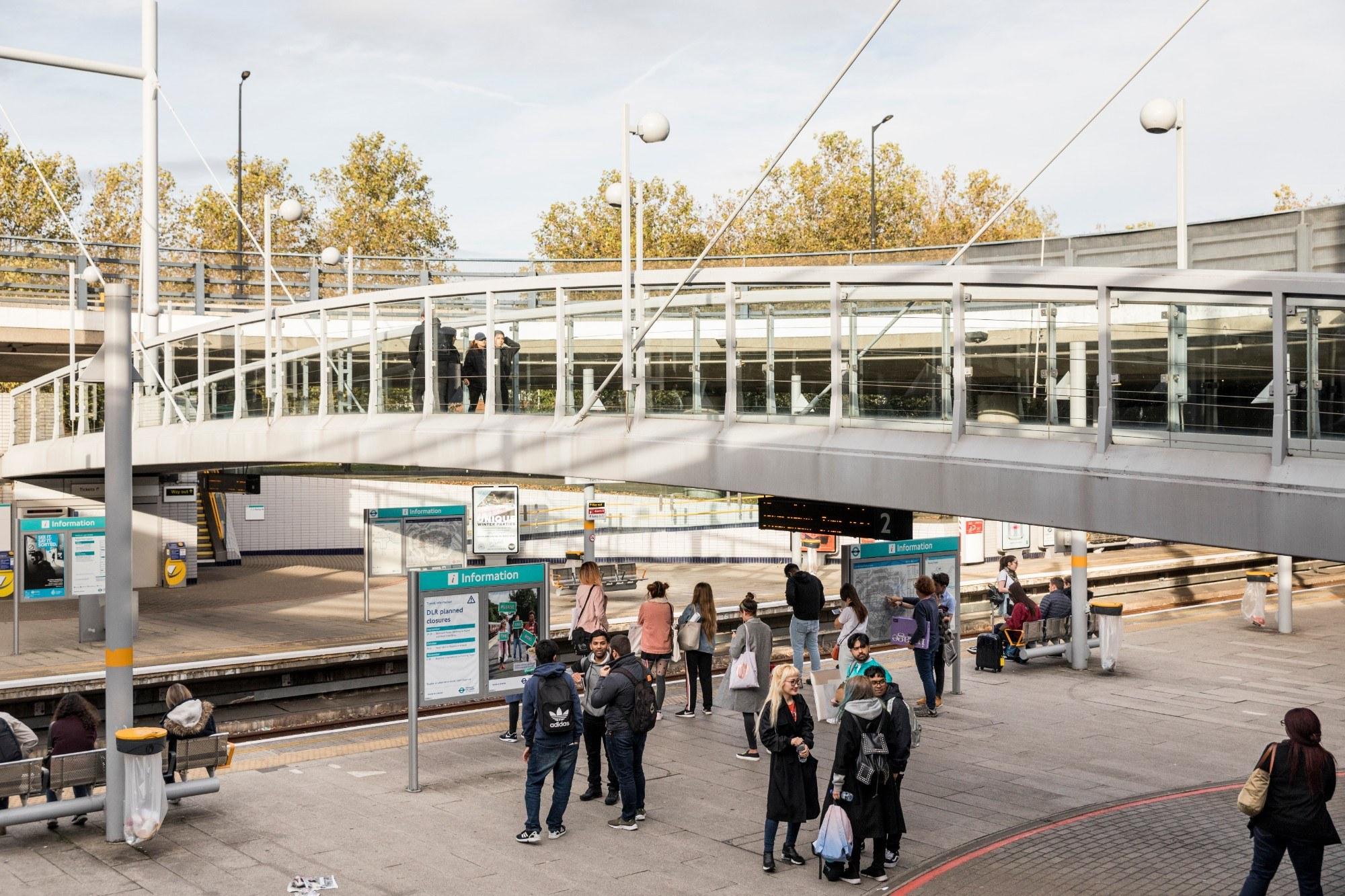 Beckton Park station in the Royal Docks