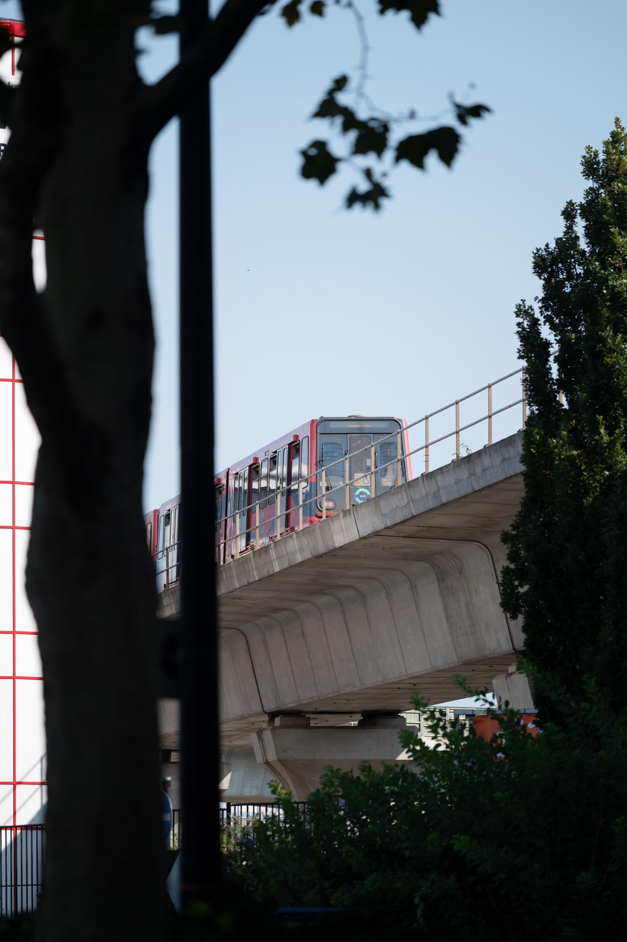 DLR train in the Royal Docks