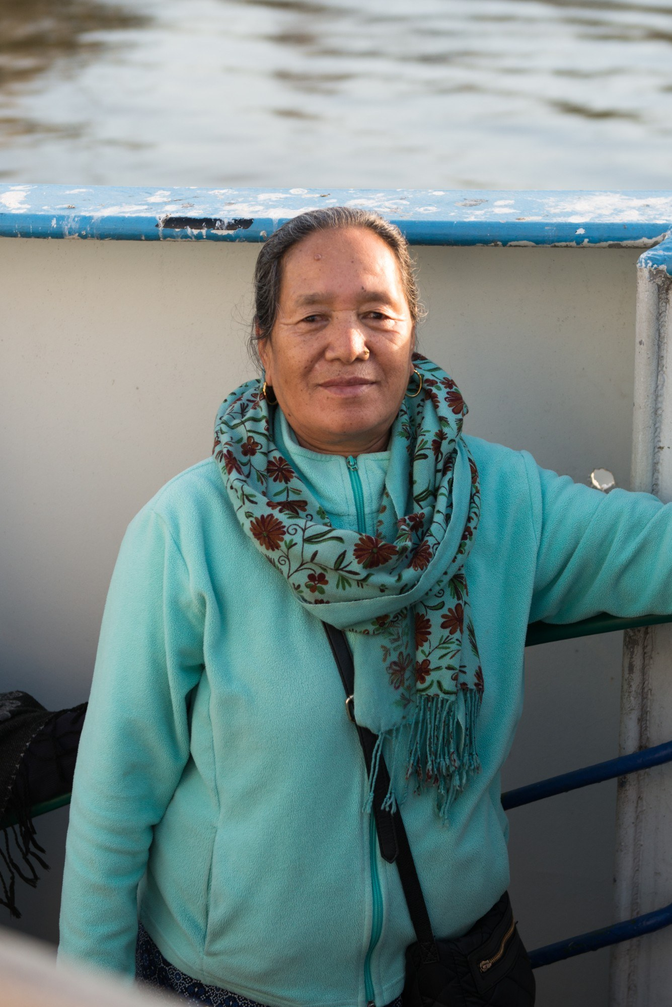 Portrait of woman on the ferry.