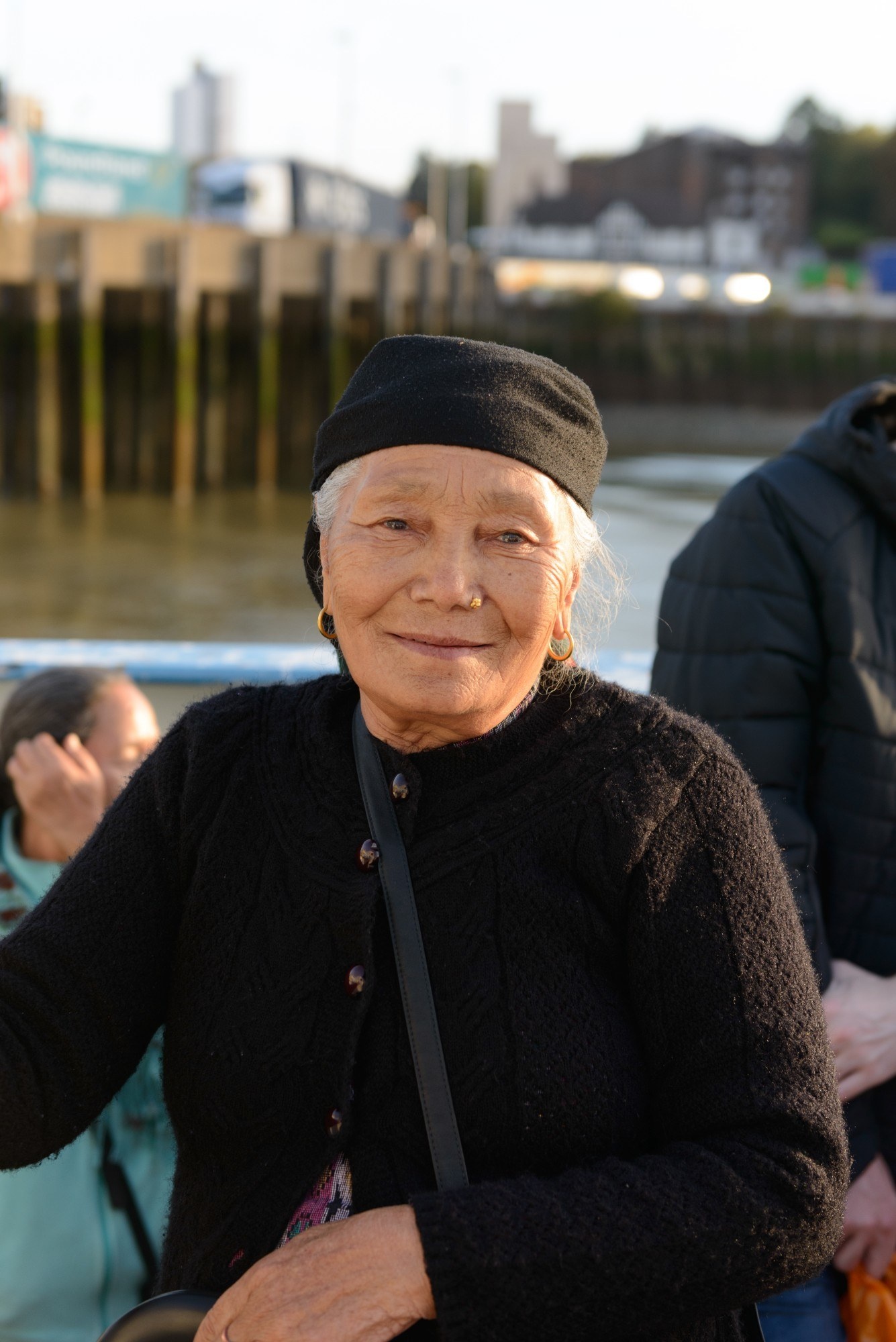 Portrait of woman on the ferry