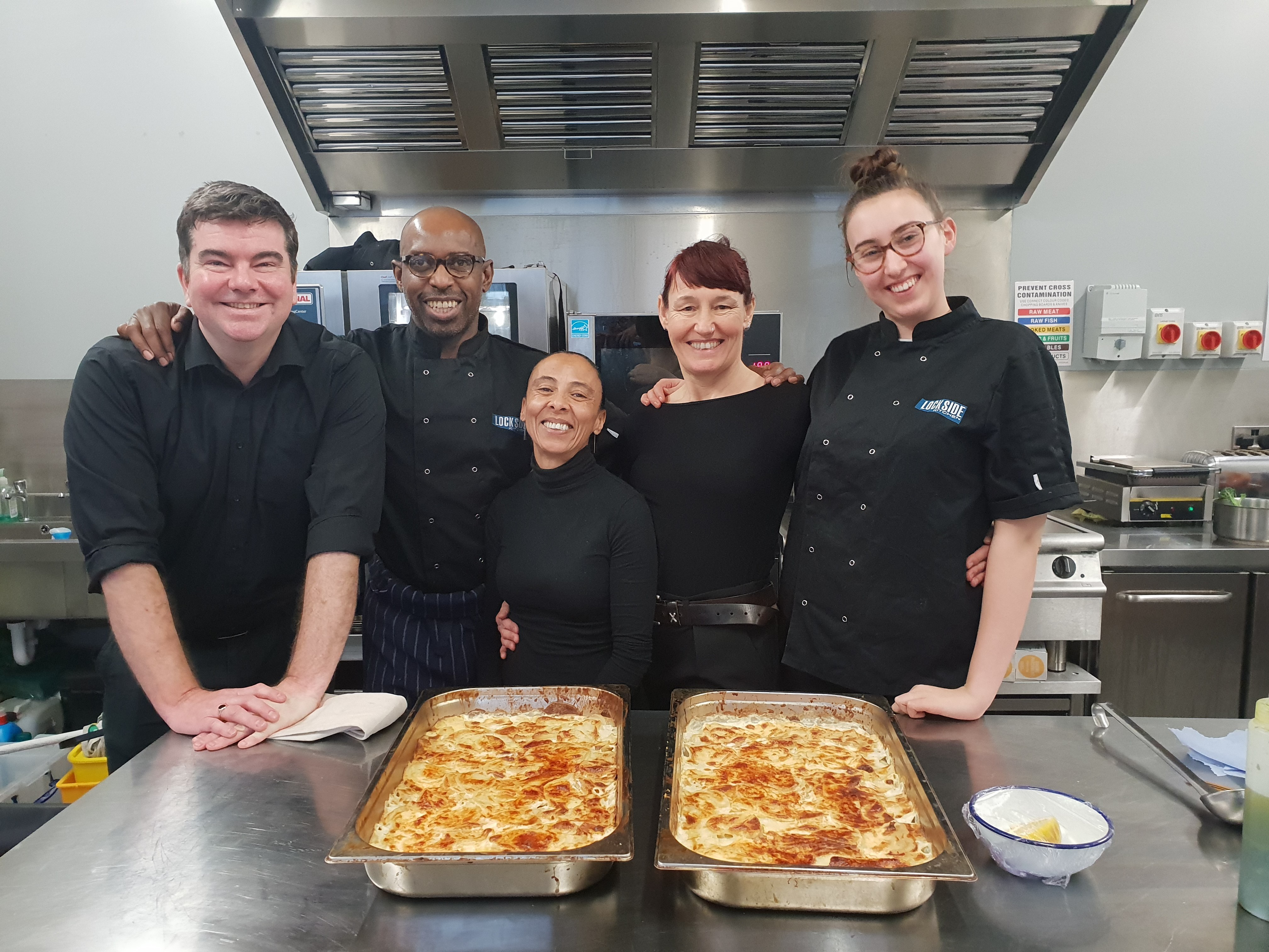 A photo of the Lockside Kitchen team