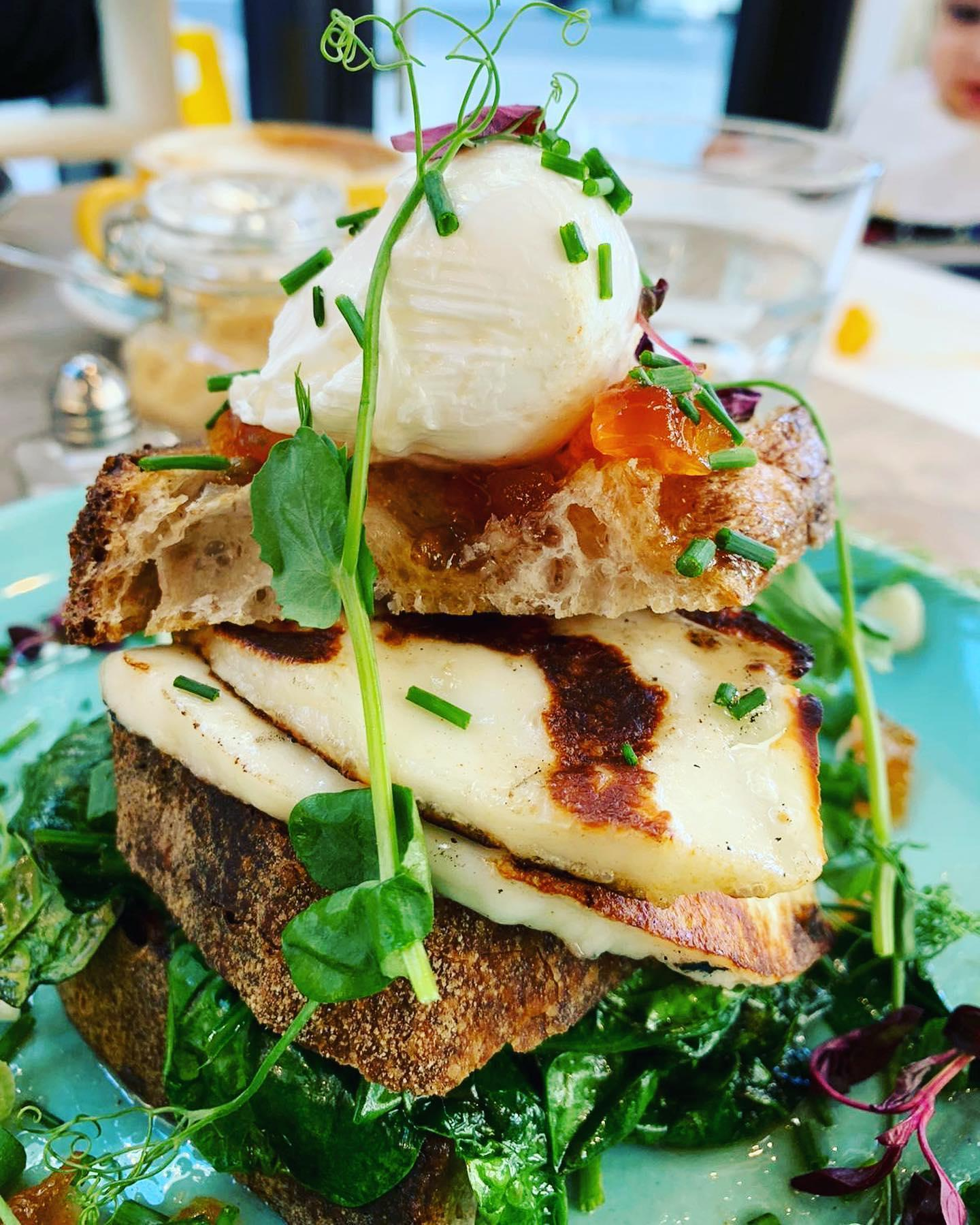 Delicious looking all in one brunch sandwich