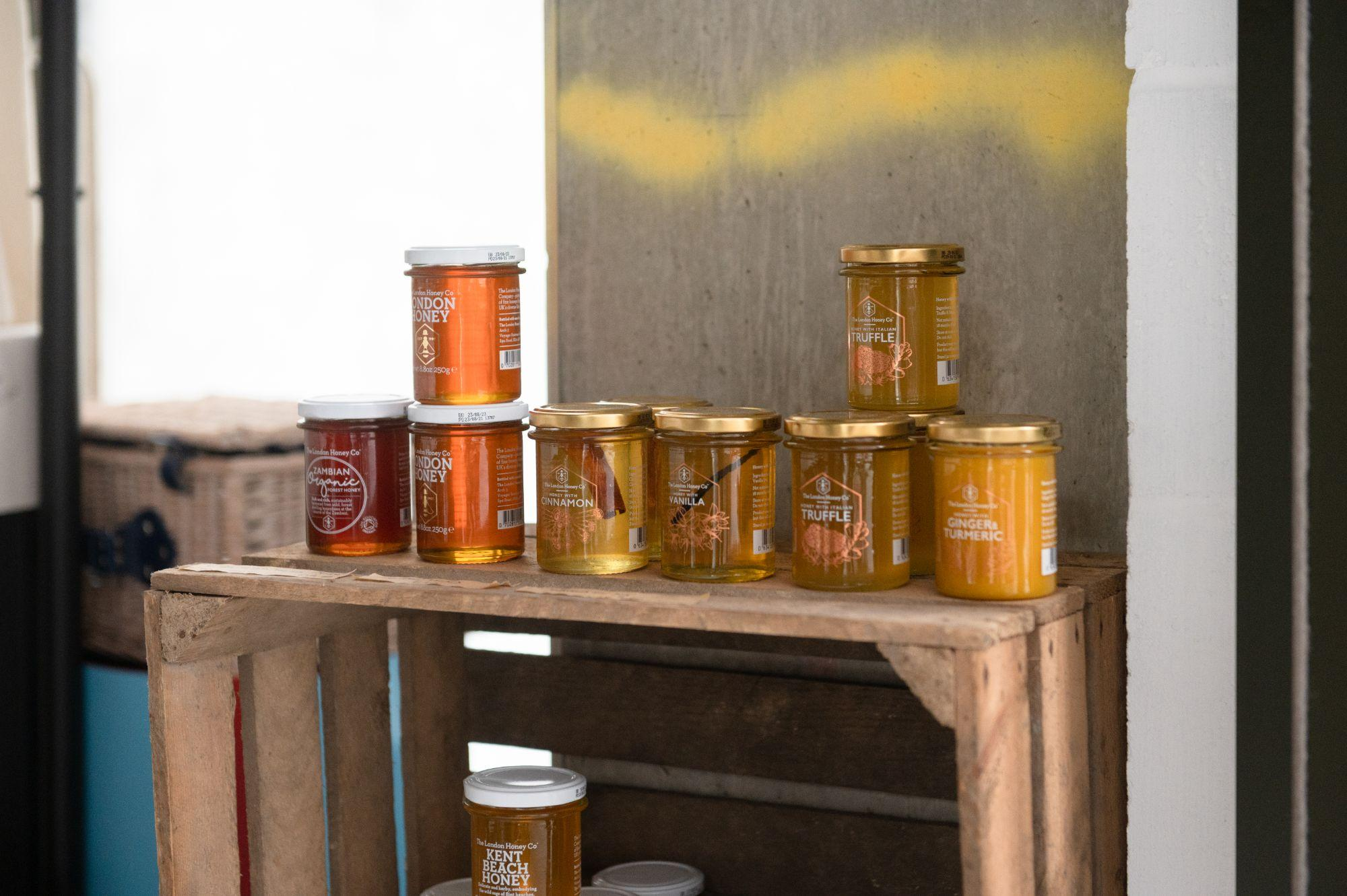 Jars of honey at loafly