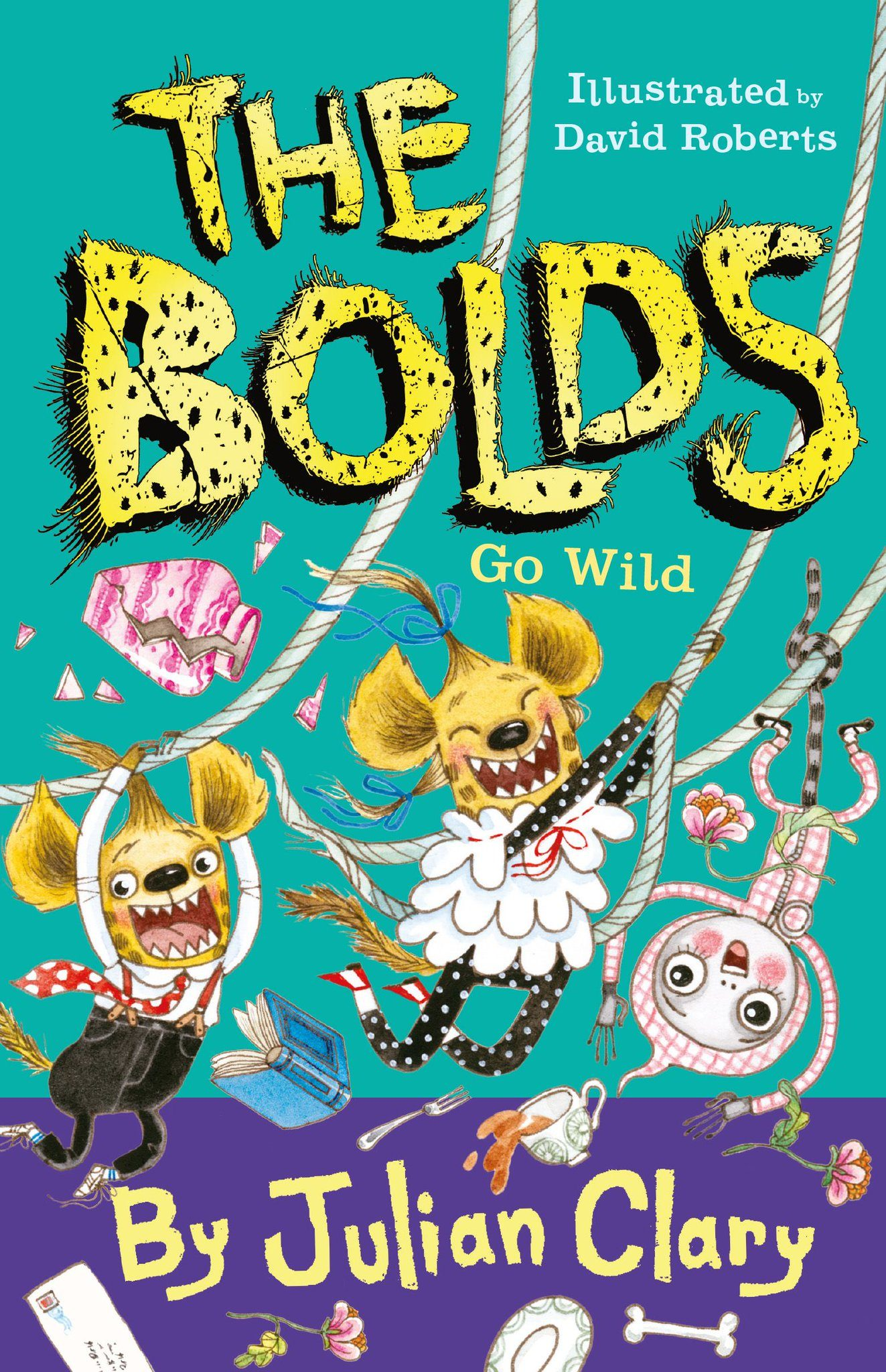 Illustrated front cover of The Bolds Go Wild by Julian Clary