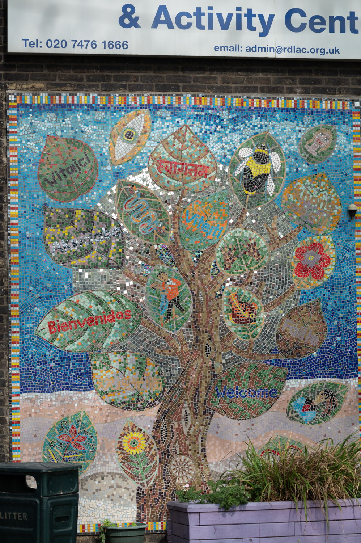Mosaic of a tree