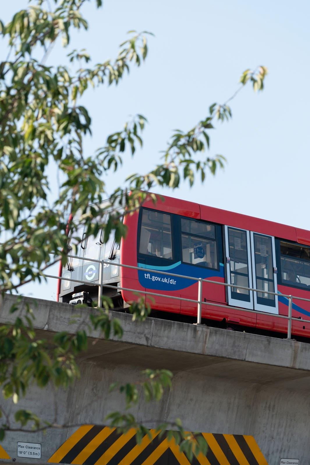 DLR train on approach