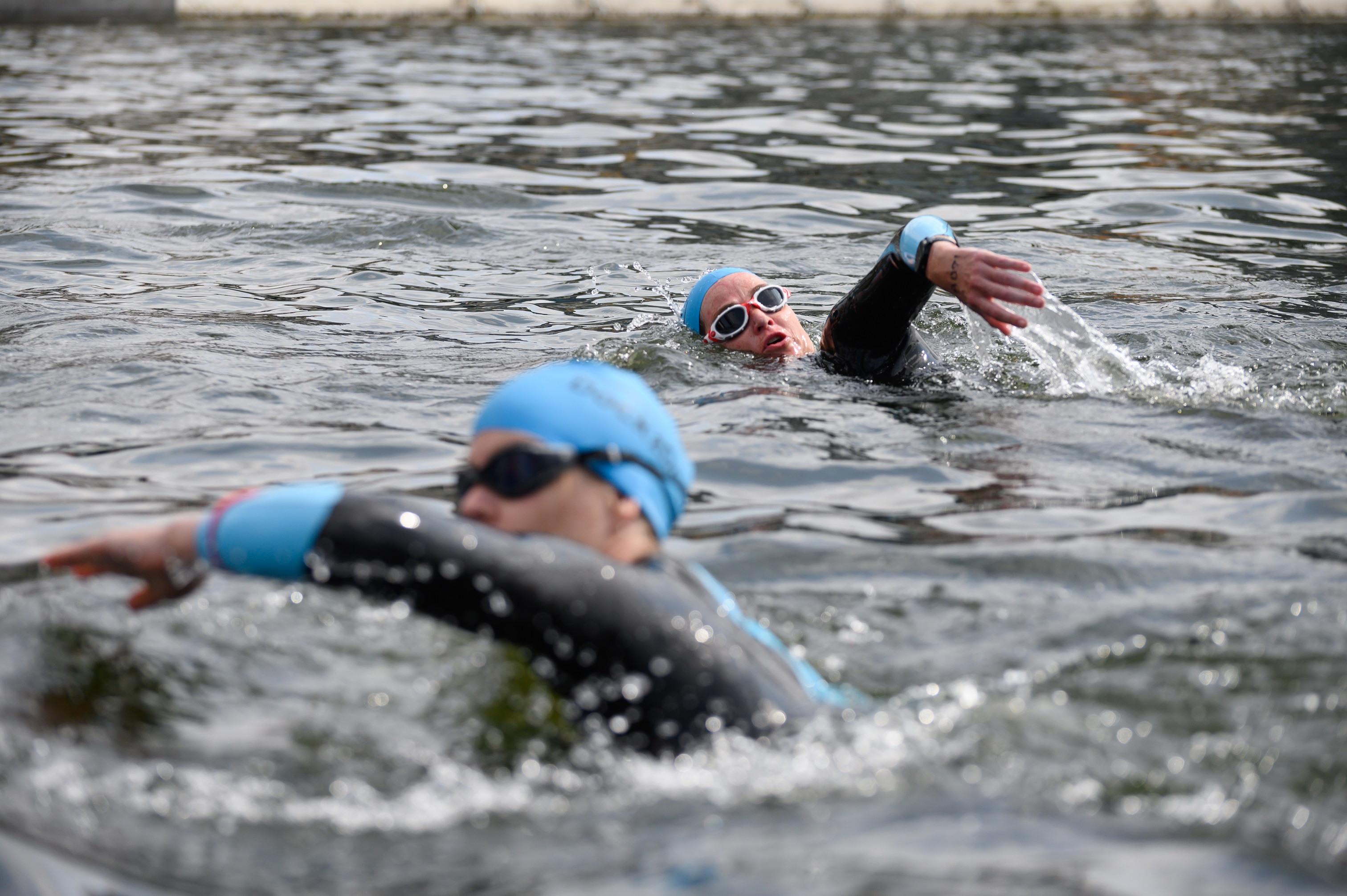 Open water swimming at Royal Docks