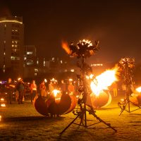 Fire Garden in the Royal Docks