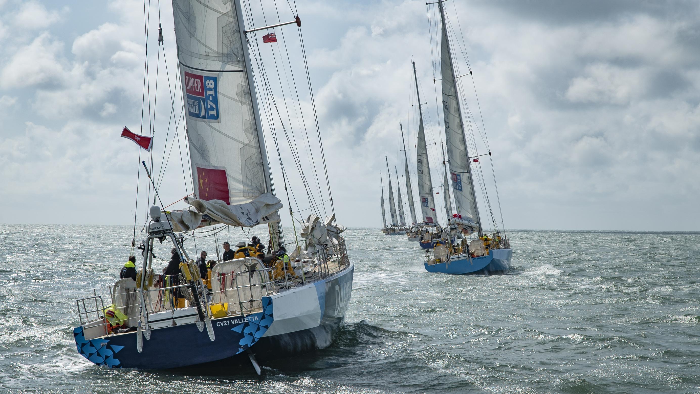 Clipper Yacht Race boats on the ocean