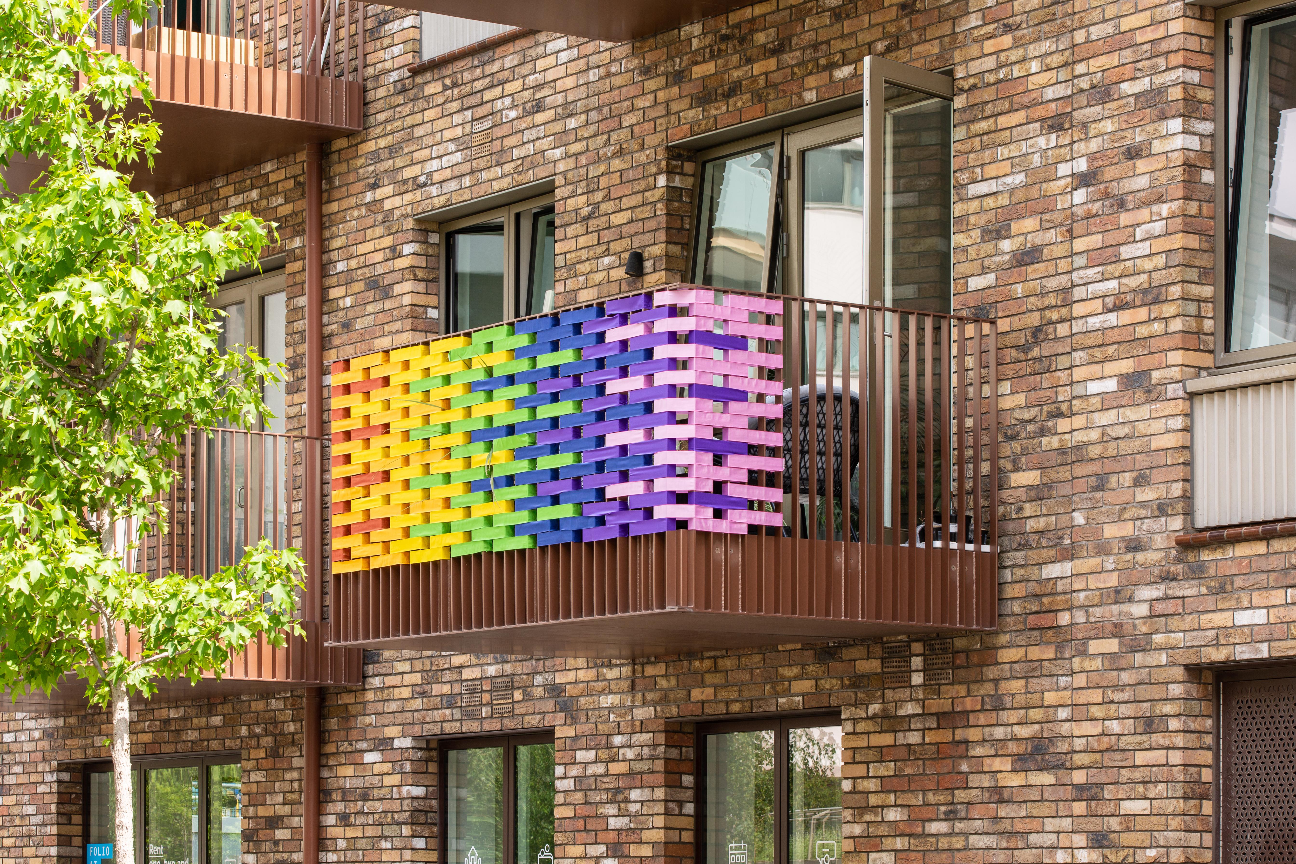 Rainbow balcony