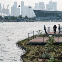 Royal Docks Team invite you to sit back and relax on the first ever floating garden in East London