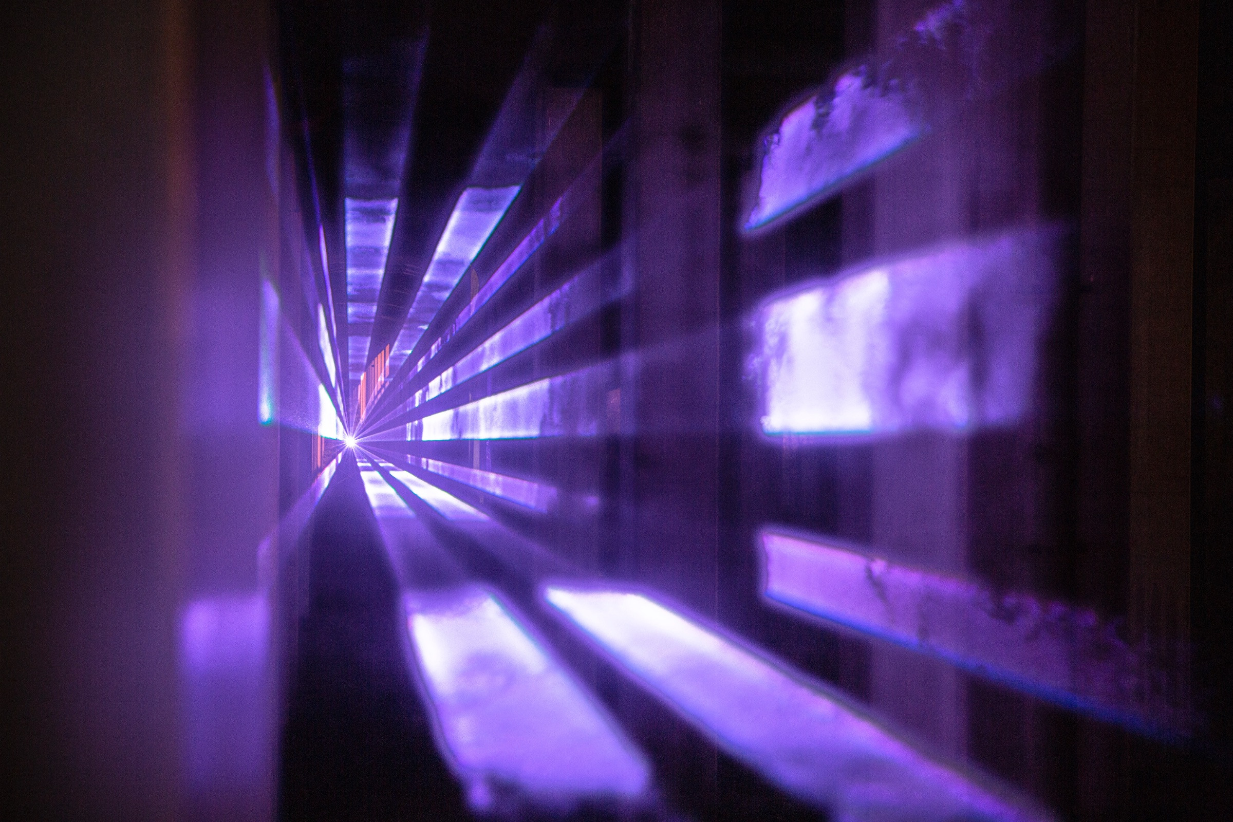 Lighting for Marcus Lyall's installation Presence