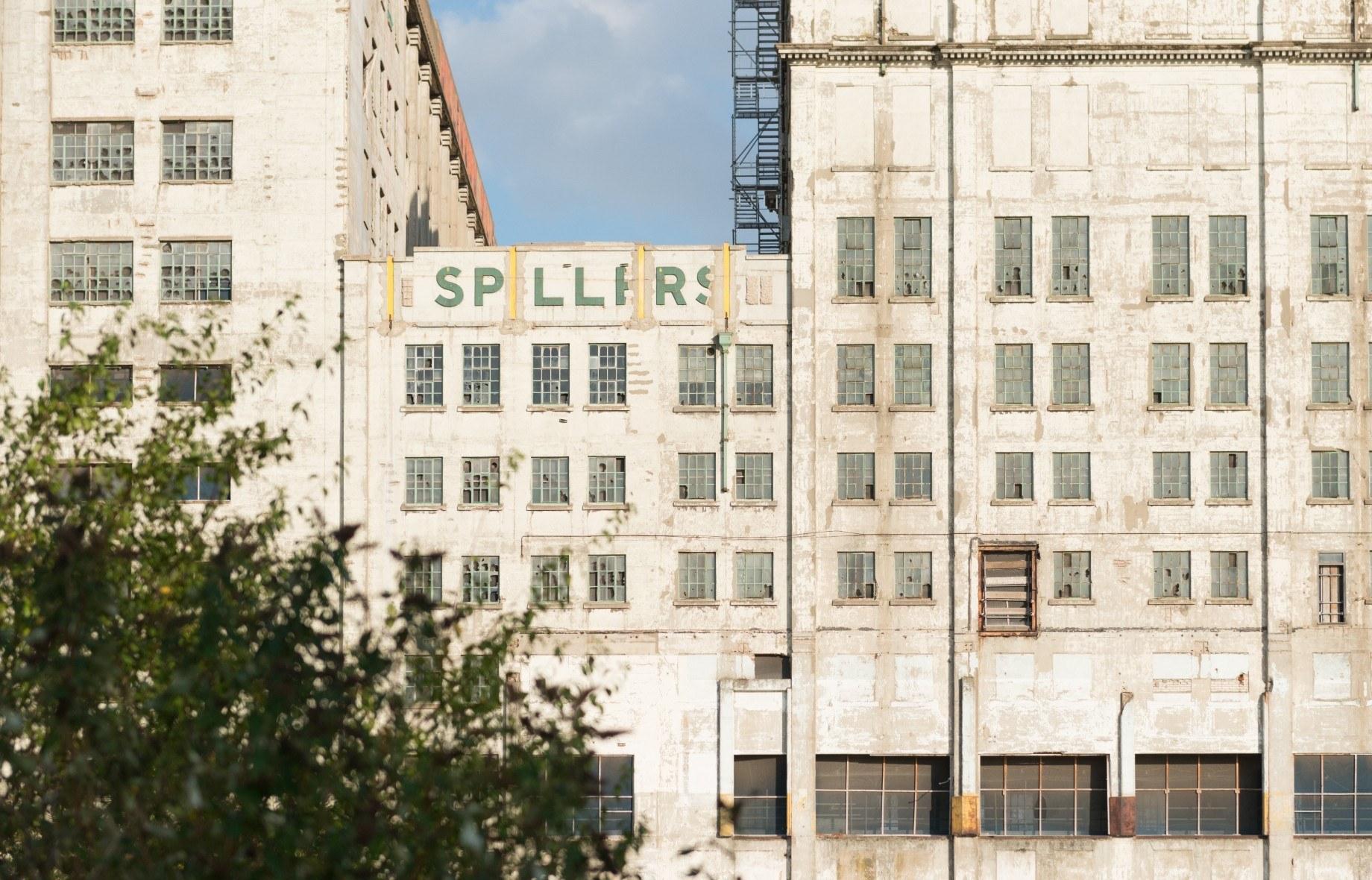 The exterior of Millennium Mills