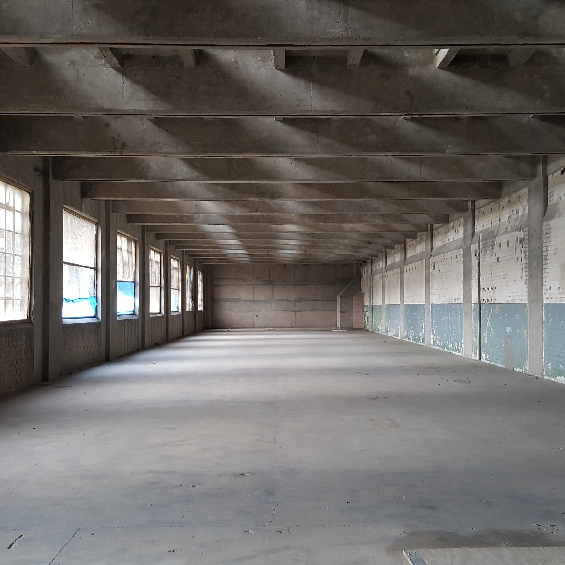 The interior of Millenium Mills