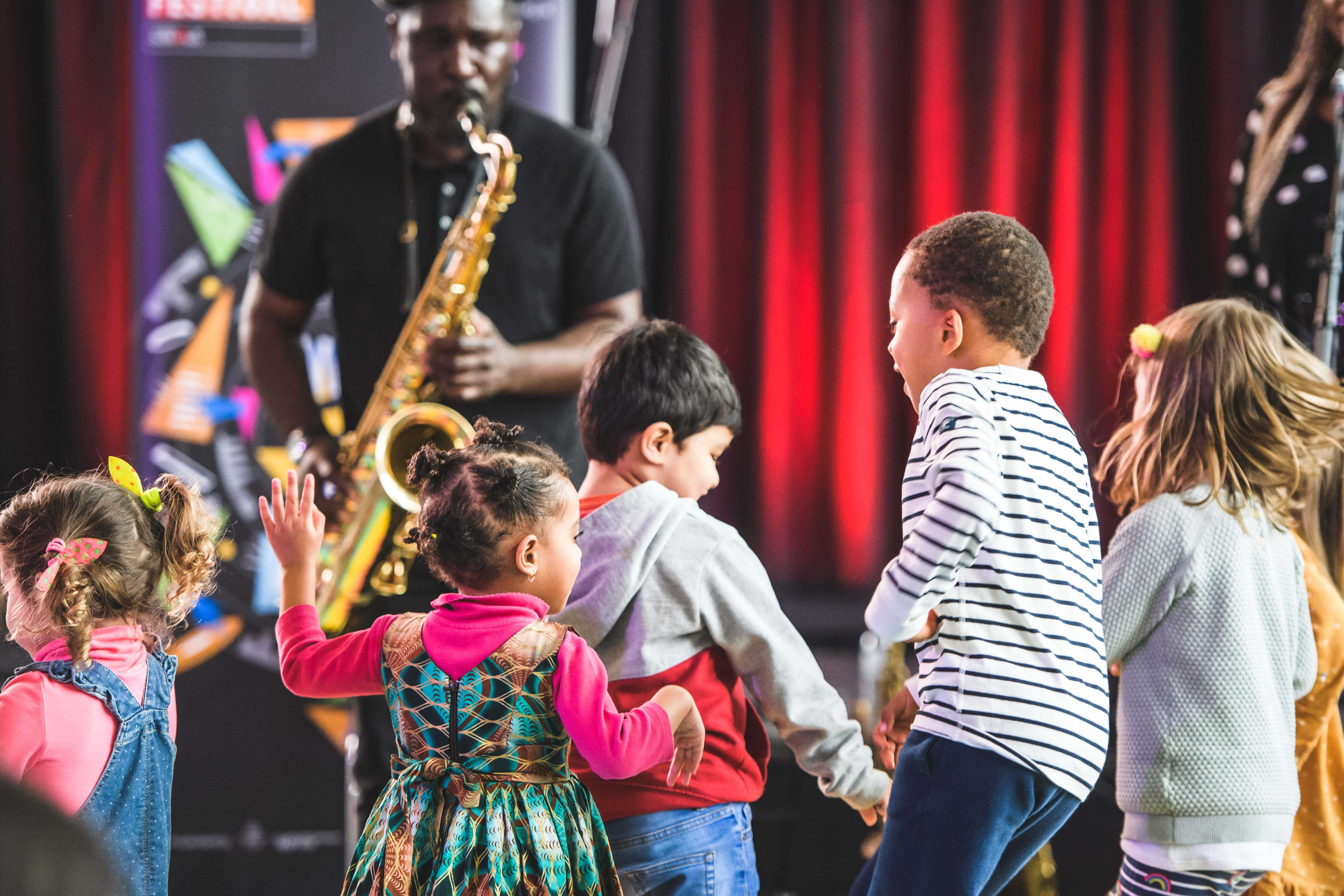 Jazz for toddlers at the EFG Jazz Festival