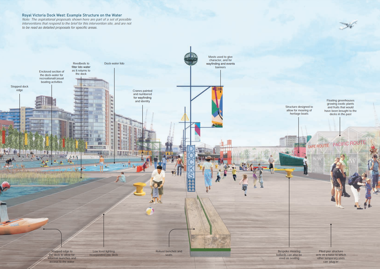 An image from the Royal Docks Public Realm Framework