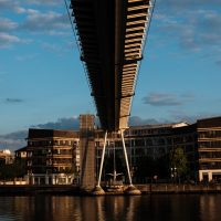 Underside of a bridge at the Royal Docks