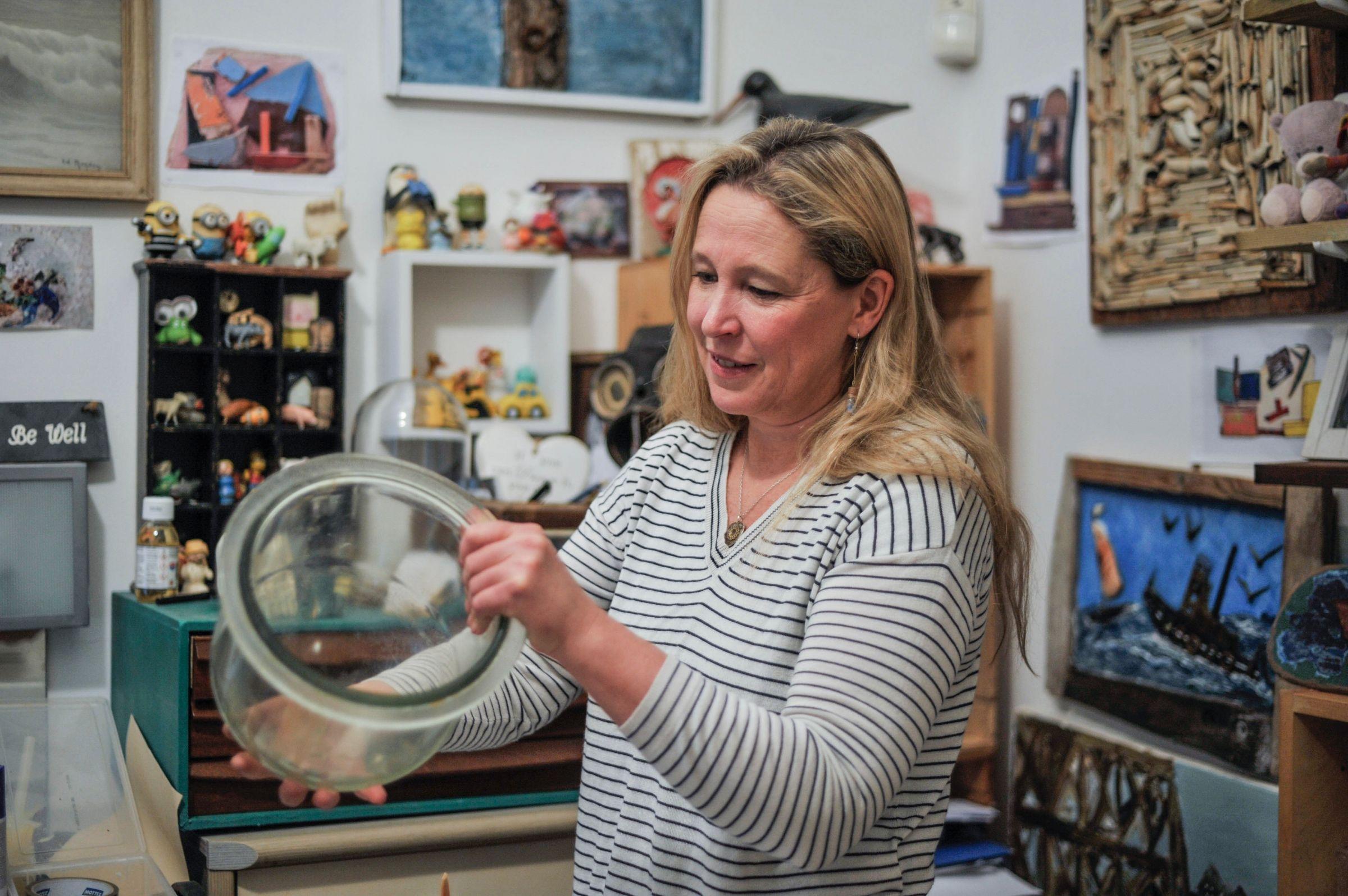 Nicola White in her studio