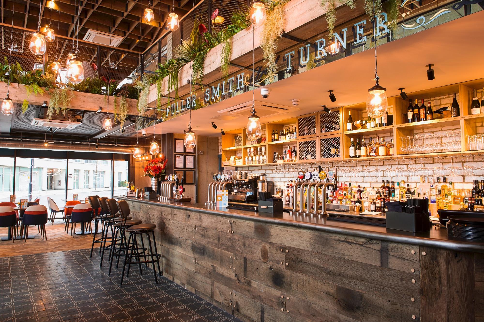 Interior of Windjammer pub in Silvertown