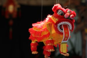 A Chinese Red dragon hanging decoration