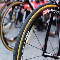 Bicycle wheels with carbon forks