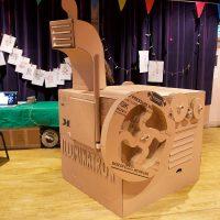 The illuminatron - a giant cardboard projector