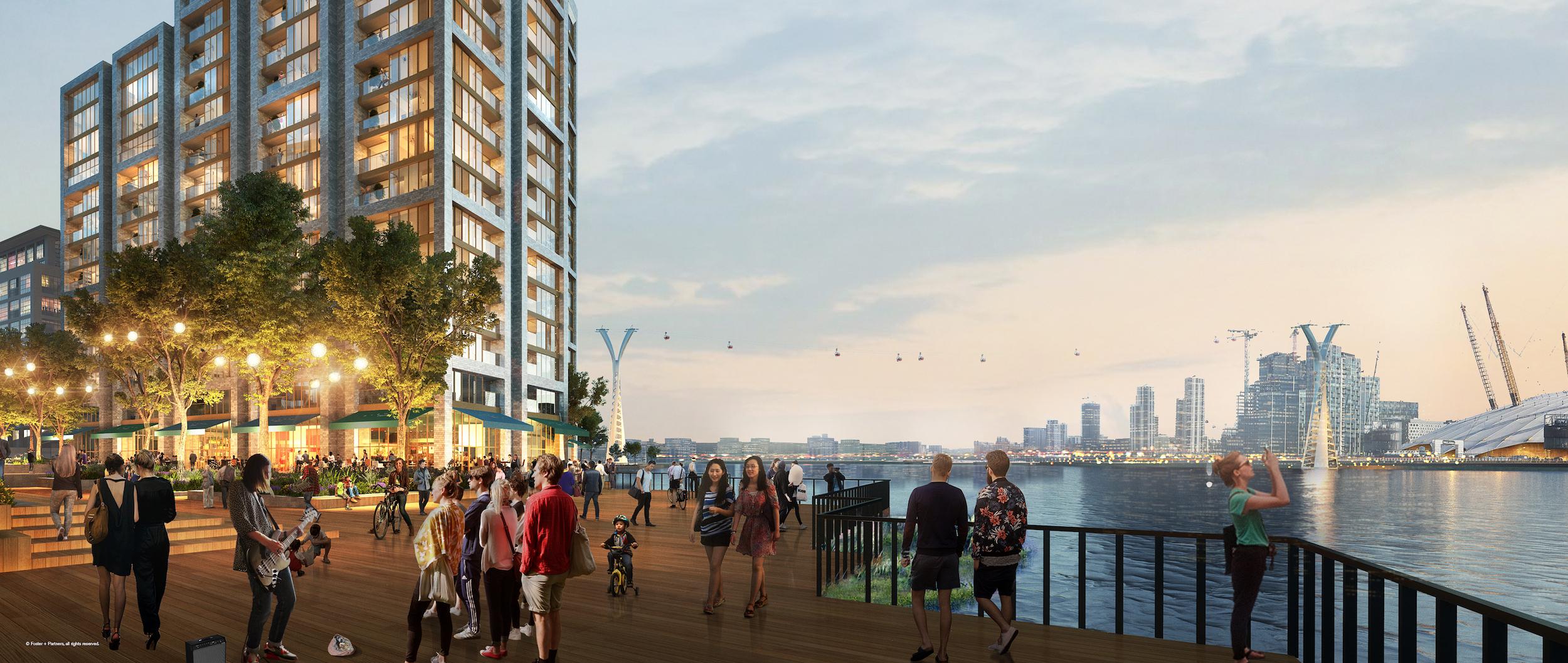 CGI impression of Thameside West development